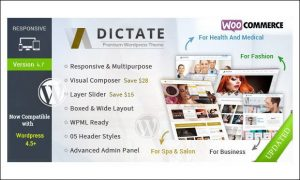 Dictate - WordPress Themes for Medical Websites