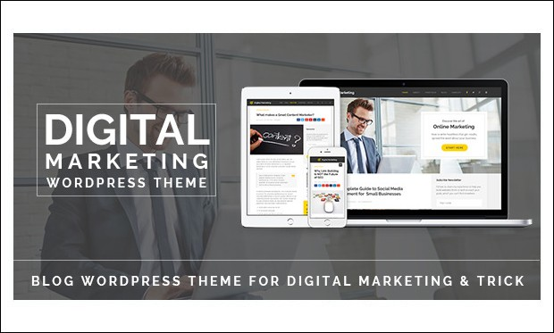 Digital Marketing - WordPress Theme for Technology Blog