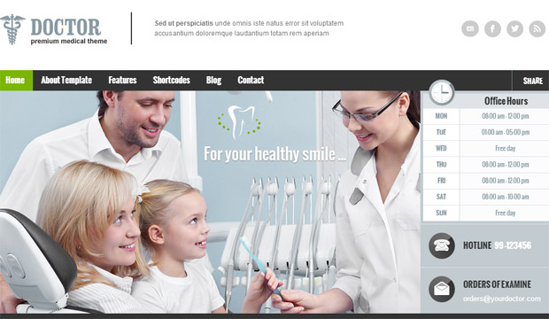 Doctor - Responsive Medical WordPress Theme