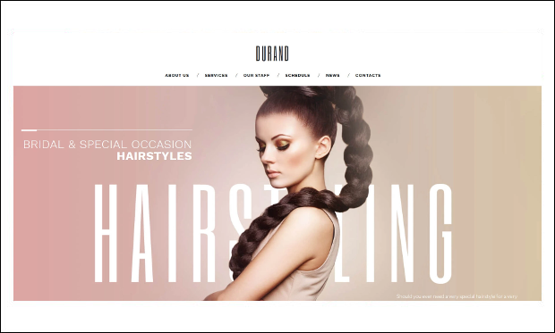 Durand - WordPress Themes for Barber Shops