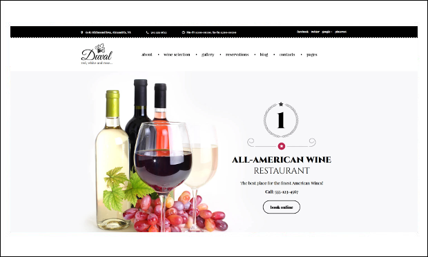 Duval - Wine WordPress Themes