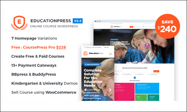 EducationPress - WordPress Responsive Theme for Digital Schools