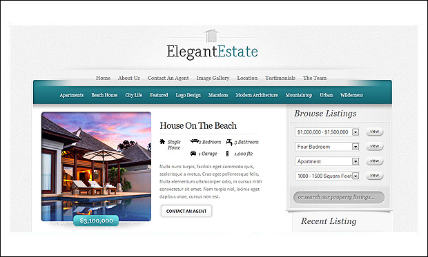 ElegantEstate - Responsive WordPress Themes for Real Estate Agents