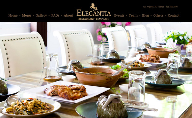 Elegantia - Responsive Recipe WordPress Theme