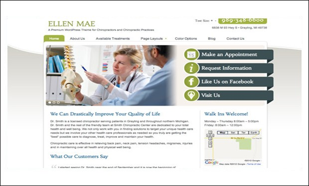 Ellen Mae - WordPress Themes for Acupuncture Websites