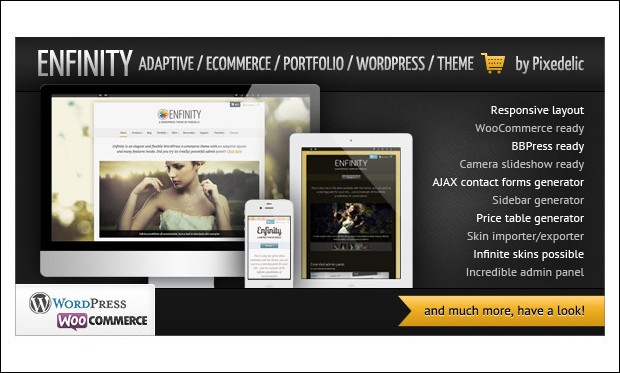 Enfinity - Retail Store WordPress Themes