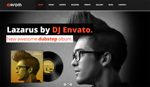 Eprom - Responsive Music Blog WordPress Theme