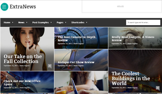 ExtraNews - Responsive Magazine WordPress Theme