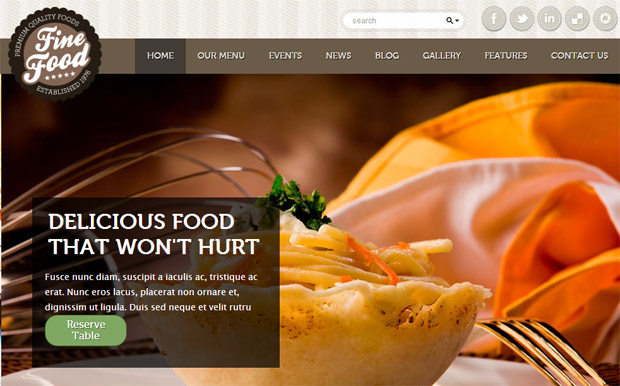 Fine Food - Responsive Recipe WordPress Theme