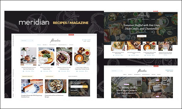 Florentine - Recipe WordPress Themes