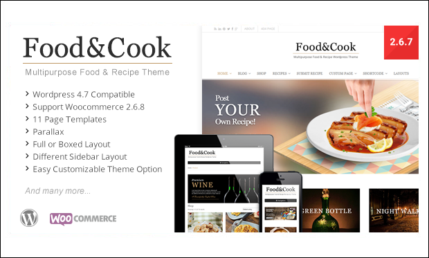 Food & Cook - Recipe WordPress Themes