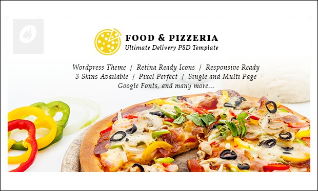 Food and Pizzeria - WordPress Themes for Pizza Shop