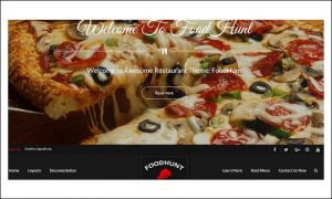 FoodHunt - WordPress Themes for Pizza Shop