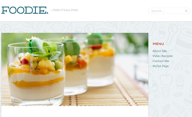 Foodie - Responsive Recipe WordPress Theme