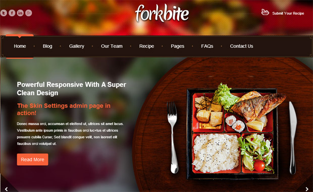 Forkbite - Responsive Recipe WordPress Theme