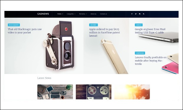 Gadnews - WordPress Theme for Technology Blog