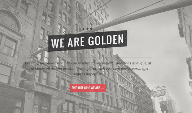 Golden - Responsive Retro WordPress Theme