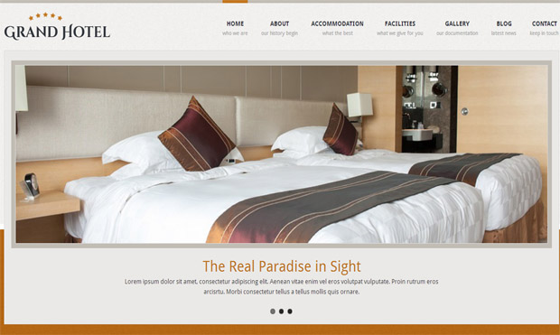 Grand Hotel - Responsive Hotel WordPress Theme