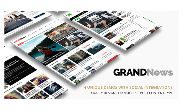 Grand News - News Websites WordPress Themes