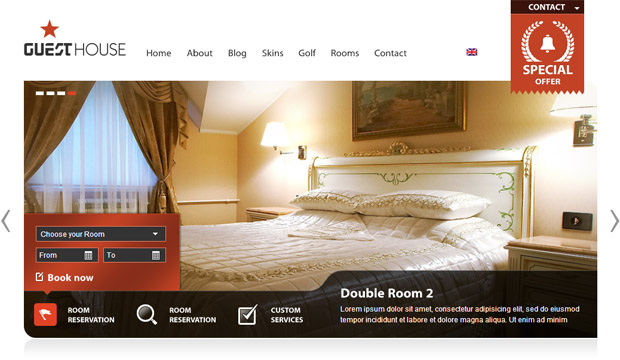 Guesthouse - Responsive Hotel WordPress Theme