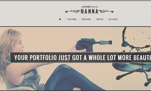 Hanna - Responsive Retro WordPress Theme