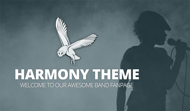 Harmony - Responsive Music Blog WordPress Theme