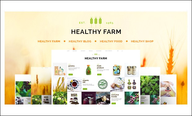 Healthy Farm - WordPress Themes for Digital Farms