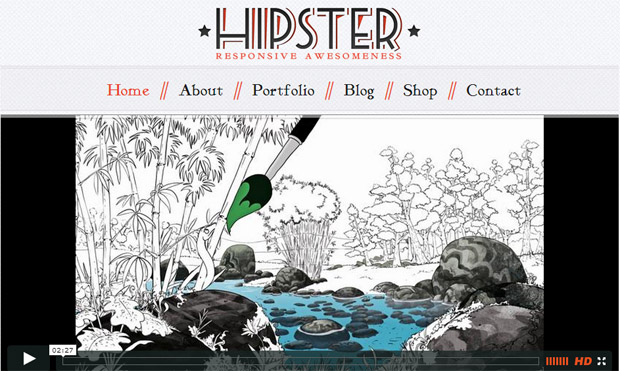 Hipster - Responsive Retro WordPress Theme