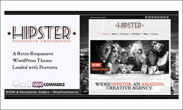 Hipster - Retro WordPress Themes