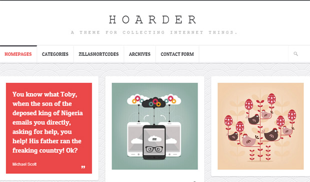 Hoarder - Responsive Magazine WordPress Theme