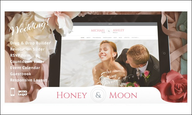 Honeymoon & Wedding - Wedding WordPress Themes