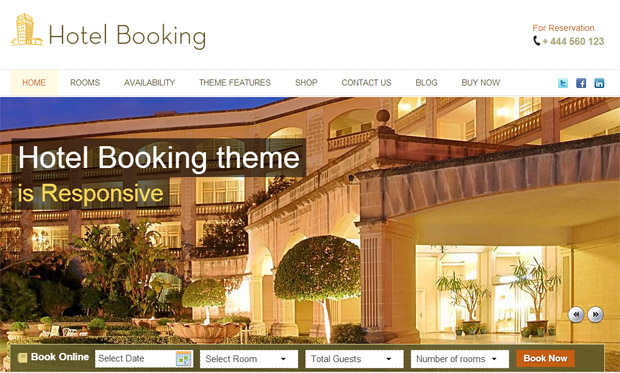 HotelBooking - Responsive Hotel WordPress Theme