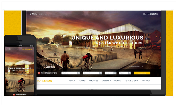 HotelEngine - WordPress Theme for Hotel Websites