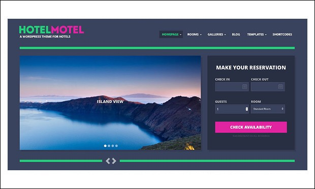 HotelMotel - WordPress Theme for Hotel Websites