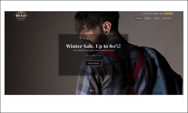 Hugo - Retro WordPress Themes