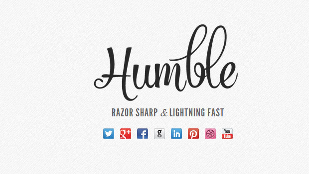 Humble - Responsive Writer WordPress Theme