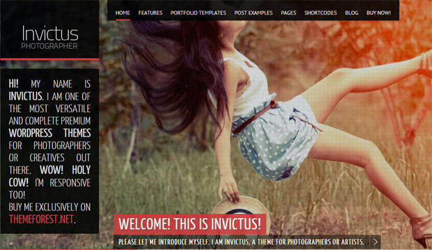 Invictus - Responsive Video WordPress Theme