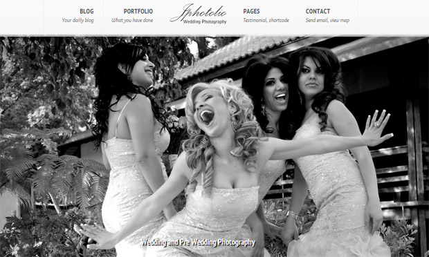 JPhotolio - Responsive Wedding Theme