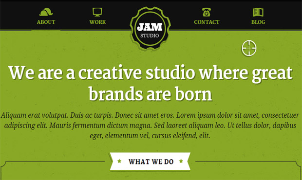 Jam Studio - Responsive Retro WordPress Theme