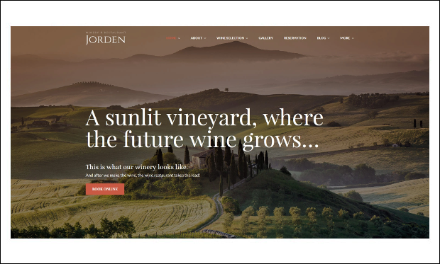 Jorden - Wine WordPress Themes