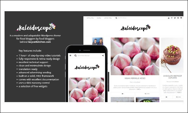 Kaleidoscope - WordPress Theme for Recipe Magazines