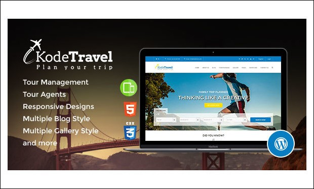 KodeTravel - WordPress Responsive Themes for Tourism Websites