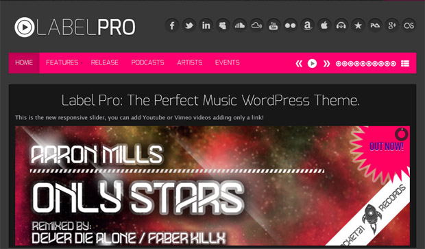 LabelPro - Responsive Music Blog WordPress Theme