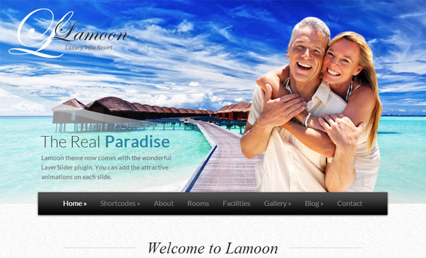 Lamoon - Responsive Hotel WordPress Theme