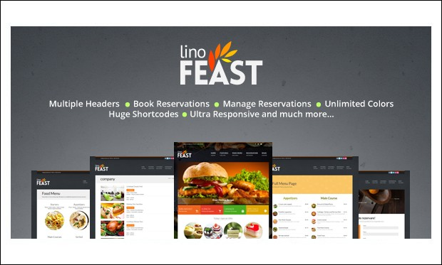 LinoFeast - WordPress Themes for Pizza Shop
