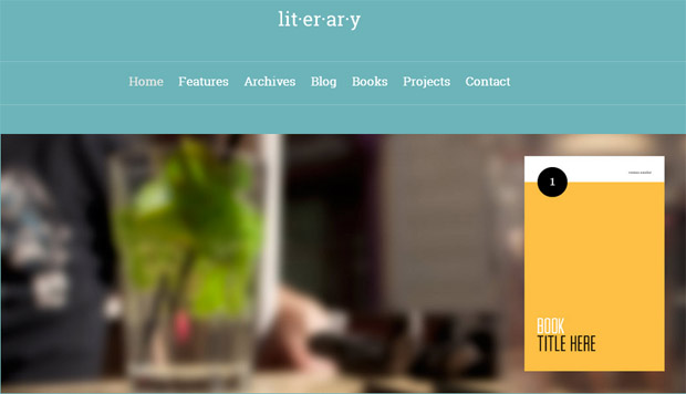 Literary - Responsive Writer WordPress Theme