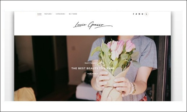 Lucie Grasso - WordPress Theme for Fashion Bloggers