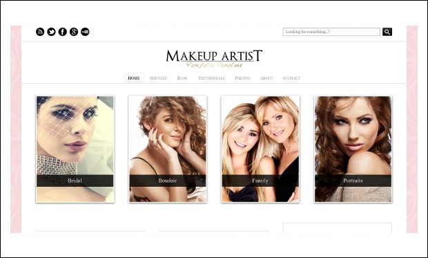 Makeup Artist - WordPress Themes for Makeup Artists