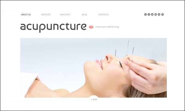 Massage Salon - WordPress Themes for Acupuncture Websites