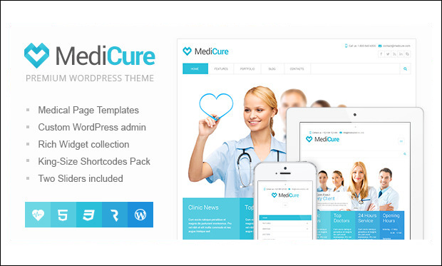 MediCure - Medical Doctors WordPress Themes
